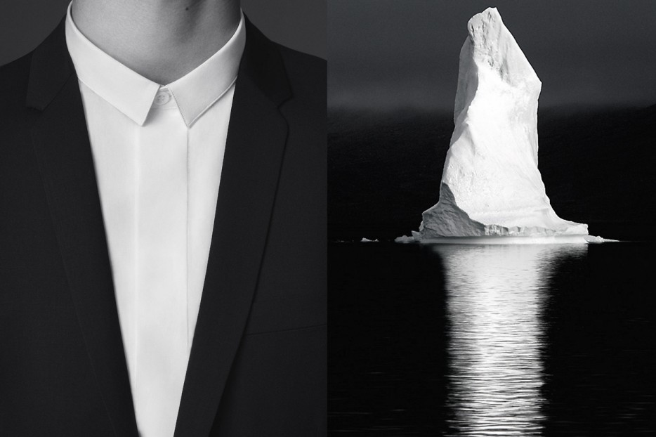 Dior Homme campanha, Iceberg no Ártico fotografado por David C. Schultz
